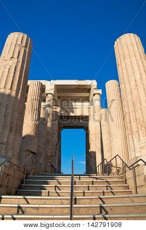 The Propylaea. Athens Greece.In the citi down town.