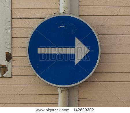 Regulatory signs Proceed in direction indicated by arrow traffic sign