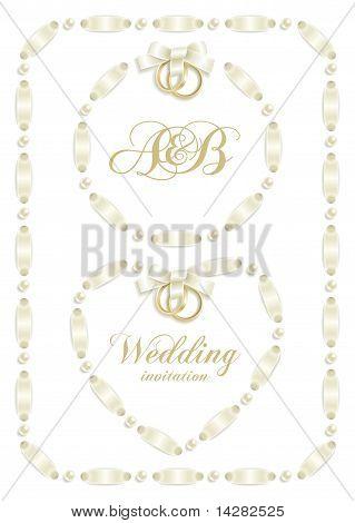 Wedding ribbon frame set 2