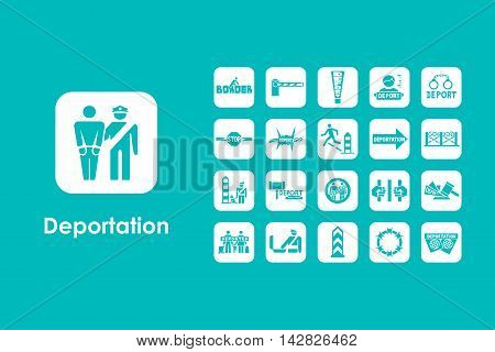 It is a set of deportation simple web icons