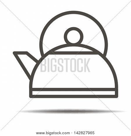 Kettle icon. Kettle symbol. Kettle sign. Kettle label.