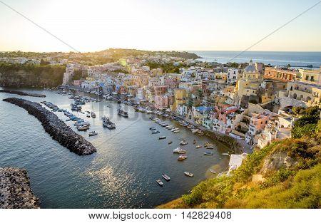 Corricella fishermen's village on Procida island Italy