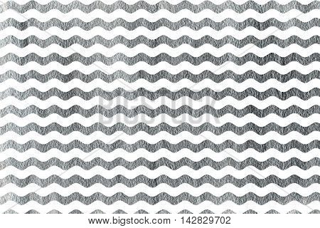 Silver Wavy Striped Background.