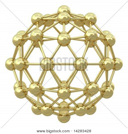 Spherical golden molecular grid