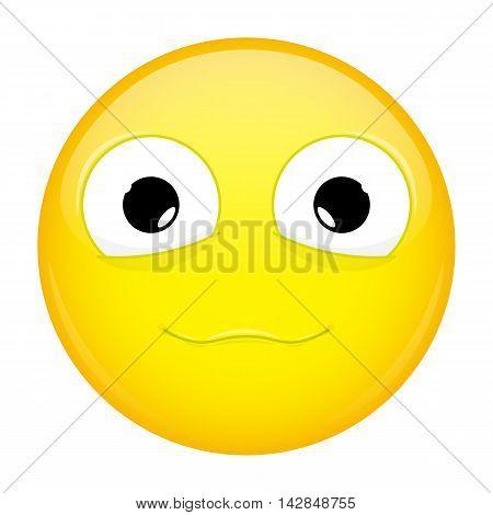 Сute smile emoji. Good emotion. Happy emoticon. Illustration smile icon.