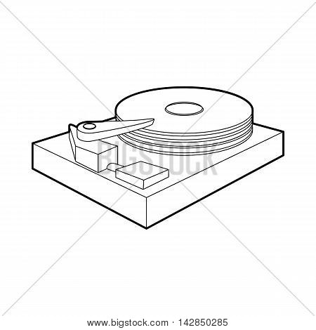 HDD icon in outline style on a white background