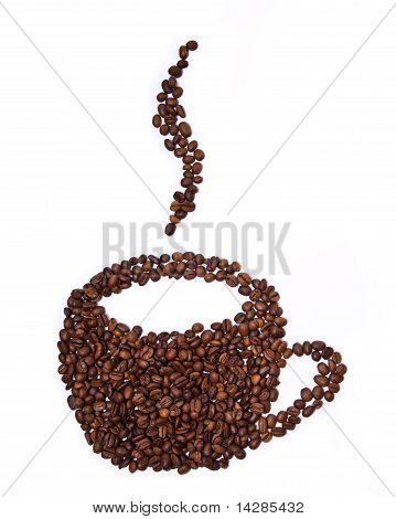 Mug Shaped Coffee Beans