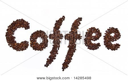 Coffee Word  Written By Coffee Beans