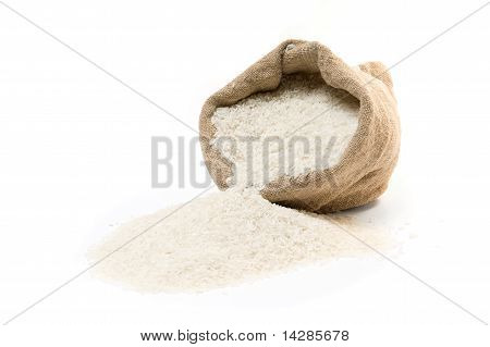 Sack And Scattered Rice