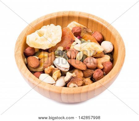 Mix Of Nuts And Dry Fruit In A Bowl