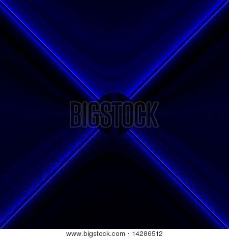 Data Processing in Blue on Black
