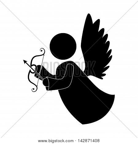 angel arch arrow heaven musical instrument halo wing  vector  isolated illustration