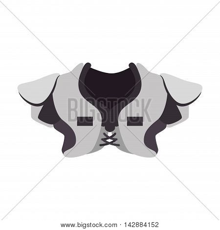 shoulder pad protection football american game sport vector  isolated and flat illustration