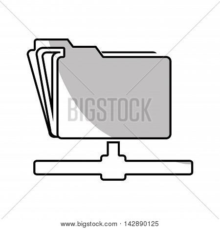 file host archive information technology network ftp vector  illustration isolated