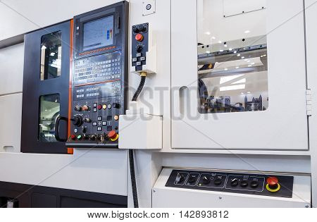 industrial equipment of cnc milling machine center in the tool manufacture workshop