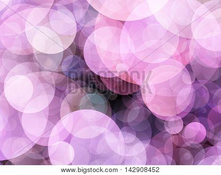 Huge light purple air bubbles on black.