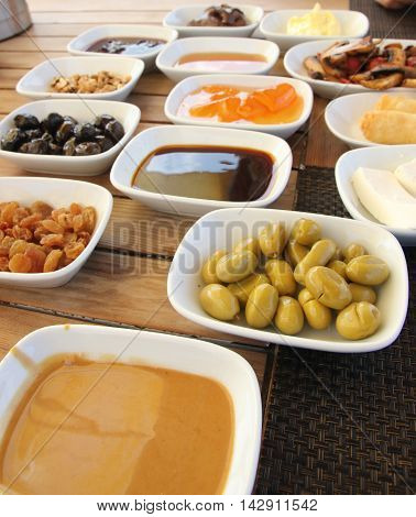 Some great tasting ingredients used for a Turkish village breakfast