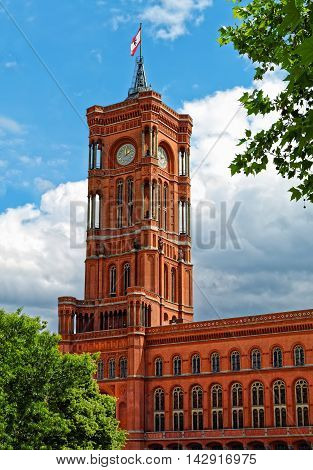 Red Town Hall (Rotes Rathaus) in Berlin, Germany