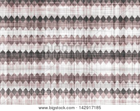 Toothed geometric pattern on a simulated simple fabric.