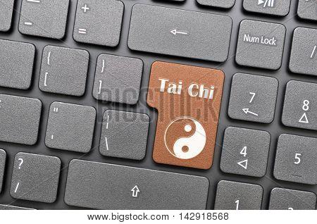 Gunmetal tai chi key on keyboard