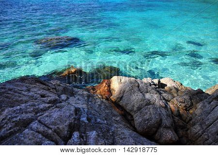 View of the clear waters of Perhentian island, Malaysia