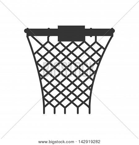 net basketball sport ball basket equipment hoop front  vector illustration isolated