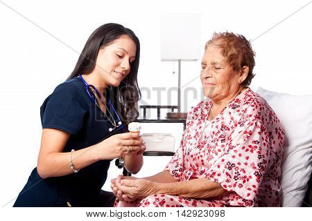 Senior Patient Prescription Medication Explanation