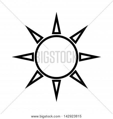 sun sunshine daylight weather sky nature bright vector illustration isolated