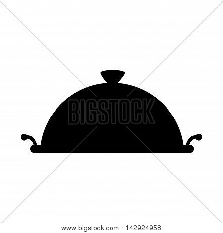 platter restaurant metal waiter plate service catering vector illustration isolated