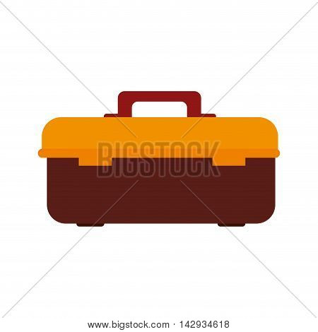 toolbox equipment construction repair fix work buil vector illustration isolated