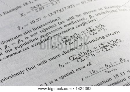 Statistischen Formel