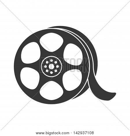reel video broadcast cinema retro vector illustration isolated