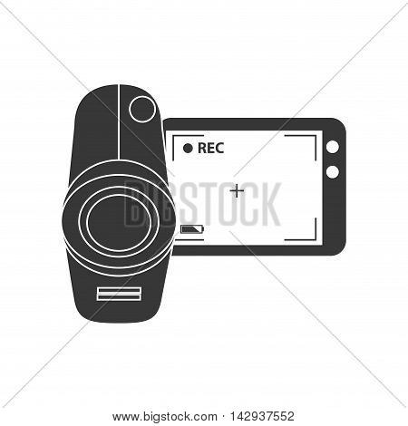 video camera recording movie digital technology portable vector illustration isolated