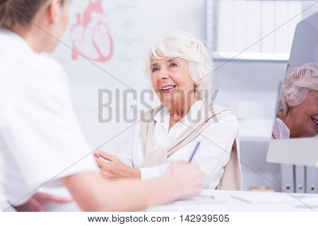 Senior Taking Care Of Her Health
