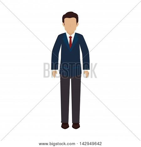 man guy boy person face head human tie suit icon vector illustration isolated