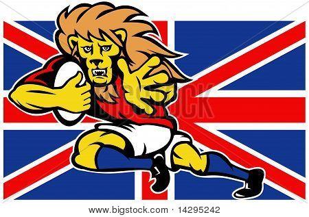 British lion rugby player flag