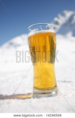 Beer Glass Over Alps