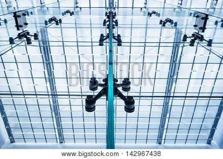 Architecture detail Modern Glass Roof window Building
