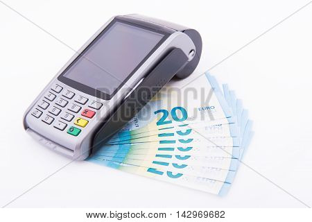 Pos With Twenty Euro Bills