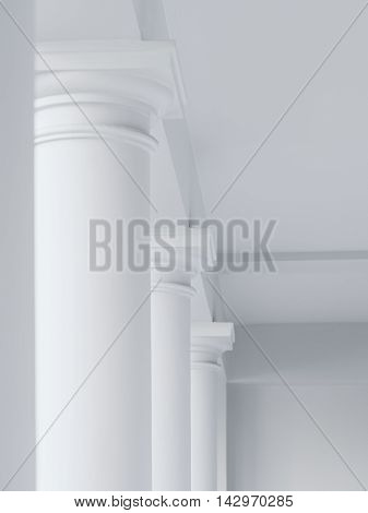 Architecture abstract details white columns rows minimal element
