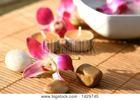 Orchids And Candle Spa