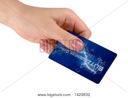 Credit Card In A Hand