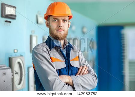 Portrait Of Young Engineer At Control Room
