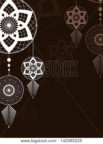 amulet of the Dreamcatcher on a brown background