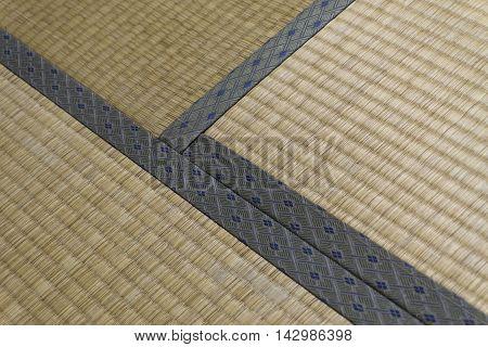 Japanese mat or tatami and seam pattern.