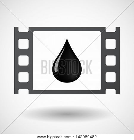 Isolated Celluloid Film Frame Icon With  An Oil Drop Icon