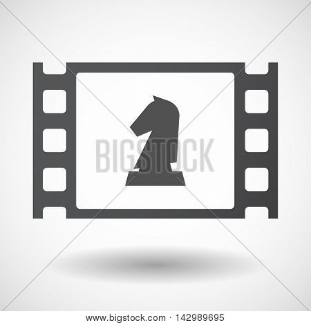 Isolated Celluloid Film Frame Icon With A  Knight   Chess Figure