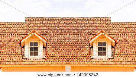 gable roof modern house with a window
