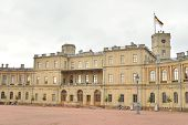 Fragment of the Big Gatchina Palace in Gatchina Russia. poster