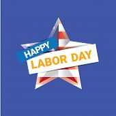 Labor day vector background. vector happy labor day poster or banner with with star. labor day sale poster